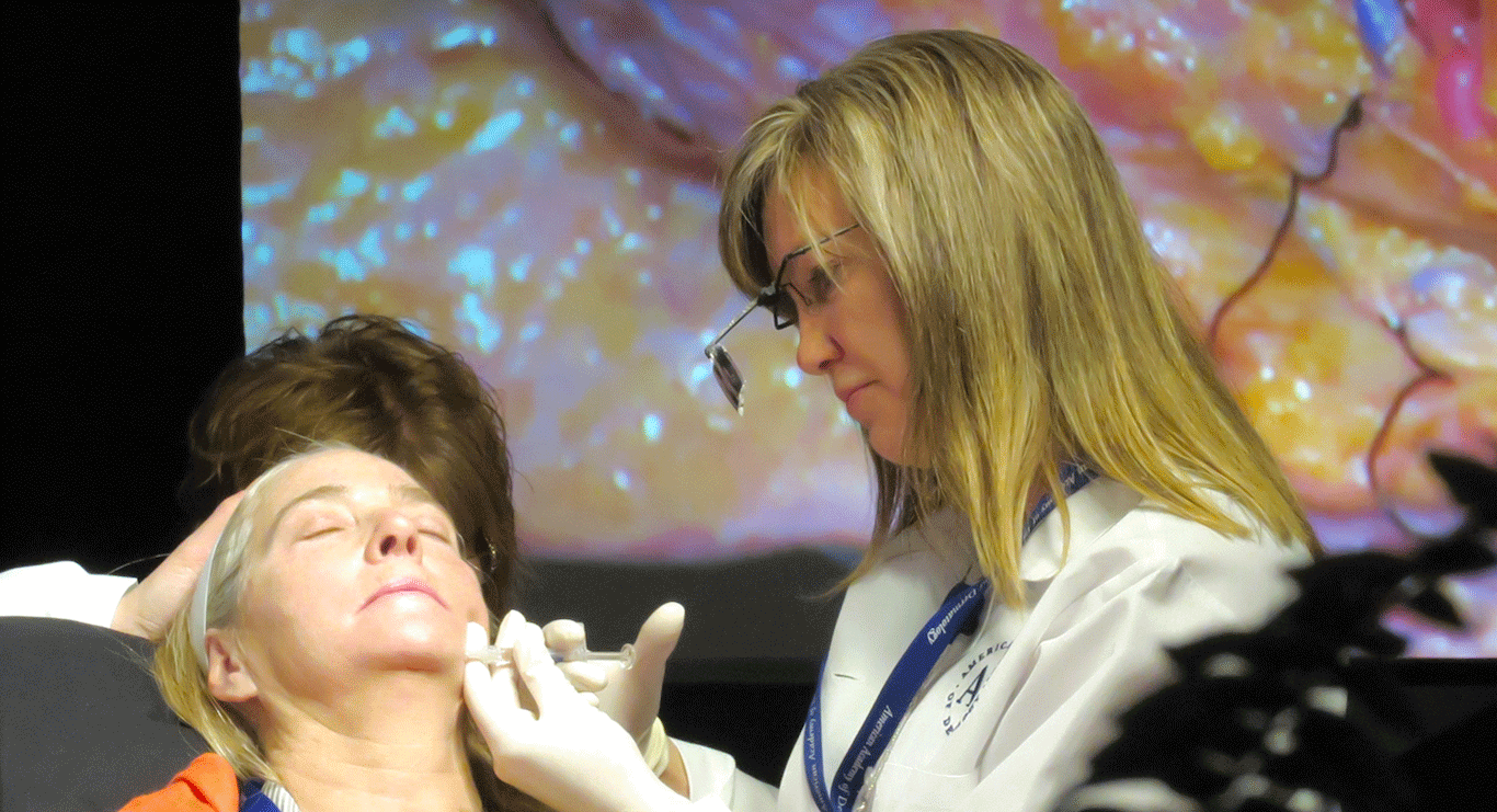 Dr. Cox performing an Injectable procedure